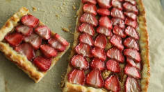 Glazed Strawberry Galette