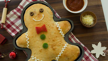 Gingerbread Man Calzone